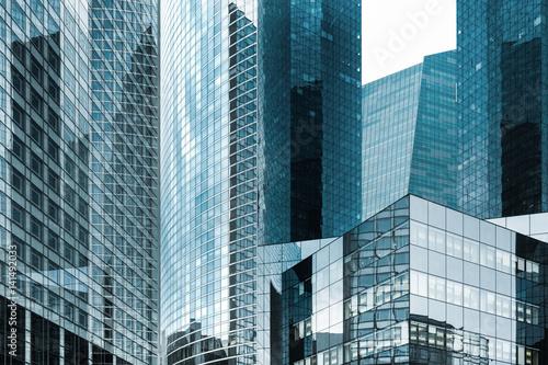 Poster tour immeuble gratte ciel building affaire quartier banque travail travailler sa