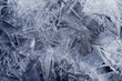 Transparent ice crystals texture cracked background