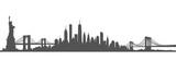 New York City Skyline Vector black and white - 141493835