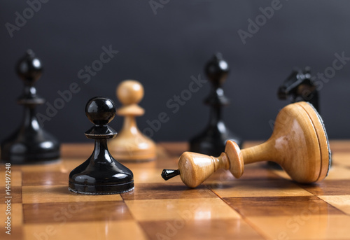 Poster Chess king is checkmated