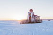 Lighthouse in winter season