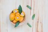 Plango fruit on wooden