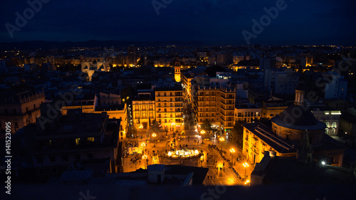 night valencia view from above