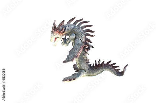 Poster dragon toy on isolated