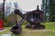 Old heavy machines in Pioneers Park. Fairbanks, Alaska, USA