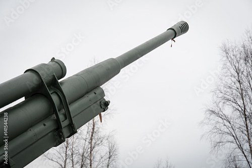 Poster Anti-aircraft gun on the road of life