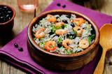 Black beans cilantro shrimp lime rice - 141548495