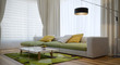 Modern interior design of living room - 141554294