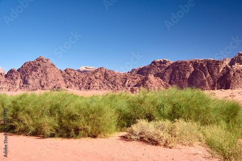 Poster Wadi Rum desert. Jordan.