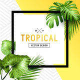 Exotic tropical summer frame - 141568603