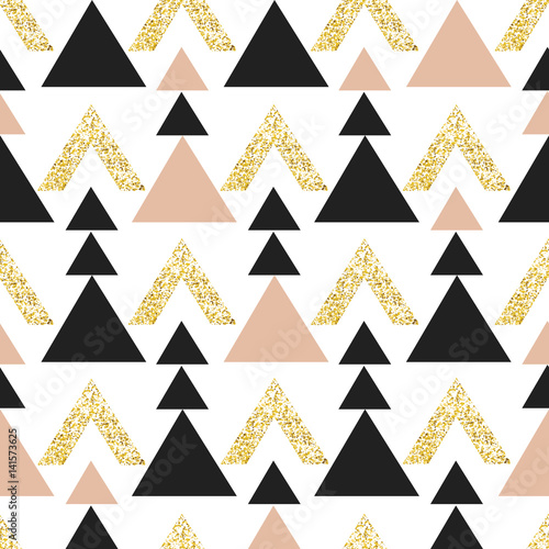 tlo-zloto-geometryczne-trojkata-streszczenie-wzor-z-trojkatow-w-zloto-i-ciemnoszarym