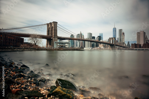 Brooklyn Bridge and downtown Manhattan Poster