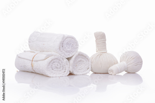 Tuinposter Spa spa theme objects on white background