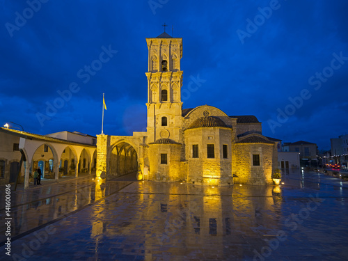 Foto op Plexiglas Cyprus Illuminated Saint Lazarus Church