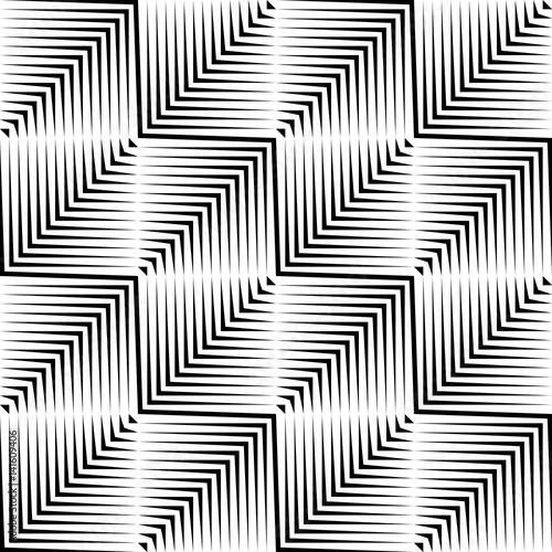 Seamless Square and Stripe Pattern - 141609406