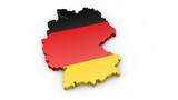 3D Karte von Deutschland - Umriss oder Kontur von Deutschland - 141626200