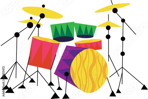 Drum Kit Musical Instrument © Wingnut Designs