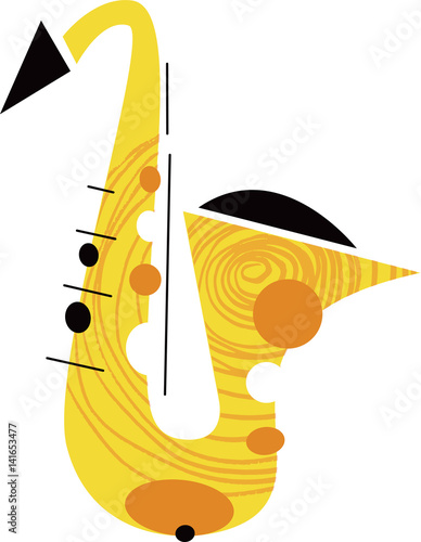 Saxophone Musical Instrument © Wingnut Designs
