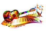Colorful music backg...