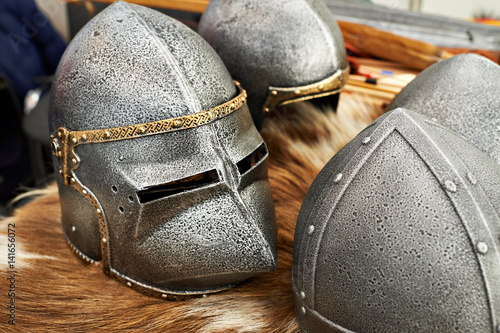 Poster Helmets of medieval knights
