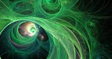 fractal green universe abstract background