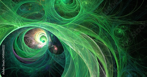 fractal green universe abstract background - 141660222