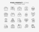 Fototapety gifts thin line icons