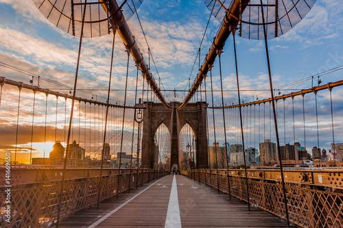 New York Brooklyn  bridge empty Poster