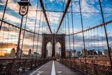 New York Brooklyn  bridge empty