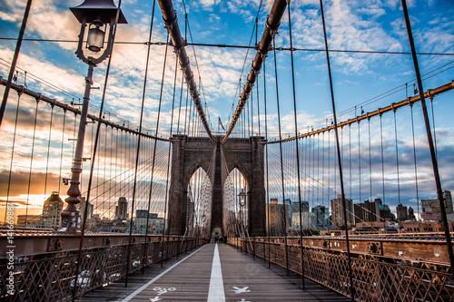 Foto op Aluminium New York New York Brooklyn bridge empty