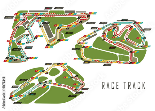 Foto op Canvas F1 Race tracks for Brazil and Italy Arab Emirates