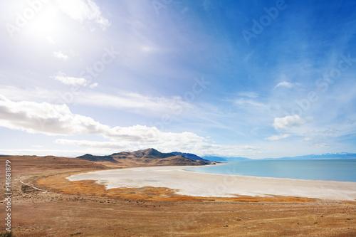 Poster Lakeside of Great Salt Lake on Antelope Island