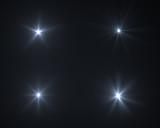 Fototapety Realistic digital lens flare in black background
