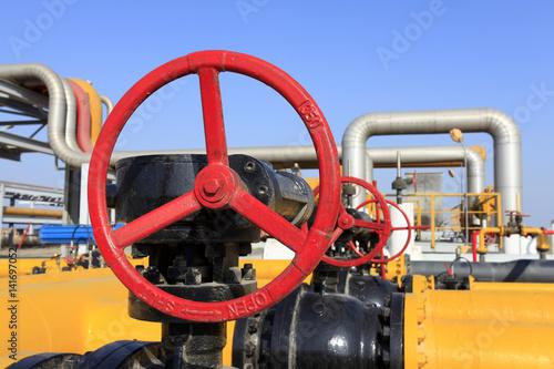 Oil pipeline valve Poster