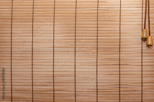 Texture wood blinds stitched rope Poster