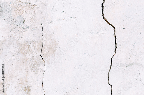 Grunge concrete cement wall with crack © sun_apple