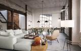 modern luxury vintage Loft Apartment - Modernes Fabrik Loft - 141731833