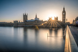Big Ben and the houses of Parliament in London at dusk - 141731887