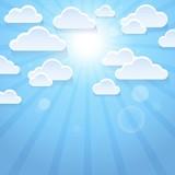 Stylized clouds theme image 3