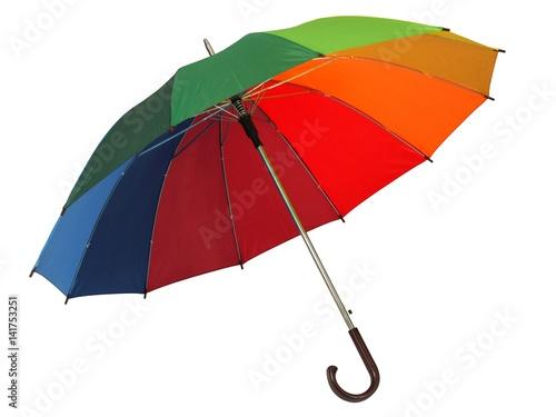 Juliste Rainbow umbrella on white