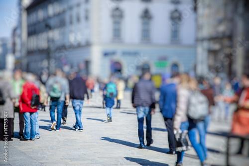 Plakat Crowd of anonymous people walking