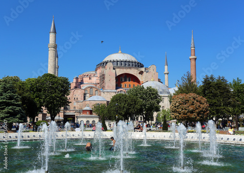 the view of the blue mosque Poster