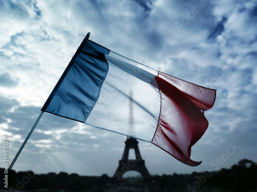 Plagát france patrie nation pays capitale Paris drapeau bleu blanc rouge symbole patrio