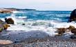 Waves on Rocky Maine Shoreline