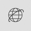 Internet globe vector icon eps 10. Web symbol on transparent background.