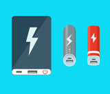 Fototapety Isolated power banks.