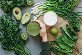 green food delicious soup smoothie - 141783436