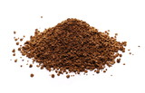 Pile of instant coffee grains isolated on white