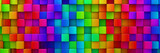 Rainbow of colorful blocks abstract background - 3d render - 141799424