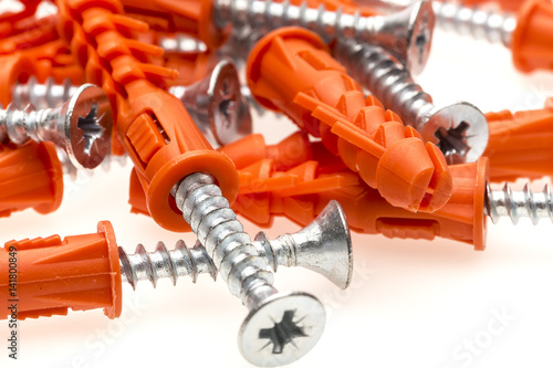 Bolts and plastic anchors